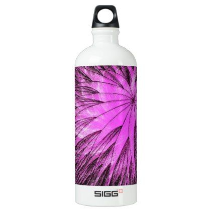 Abstract Flower6 - SIGG Water Bottle - metal style gift ideas unique diy personalize