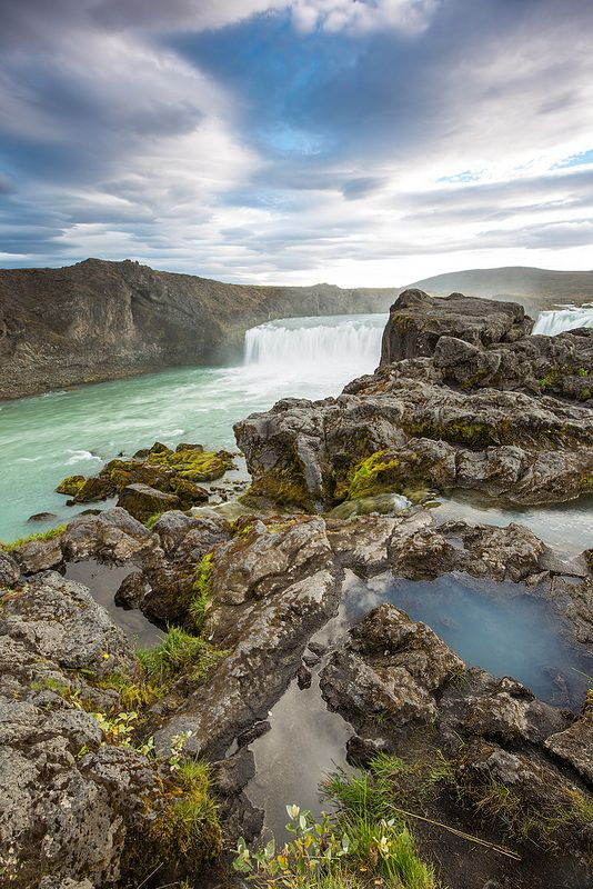 Iceland-Godafoss  #Iceland #Landscape #nature #Godafoss #Waterfall