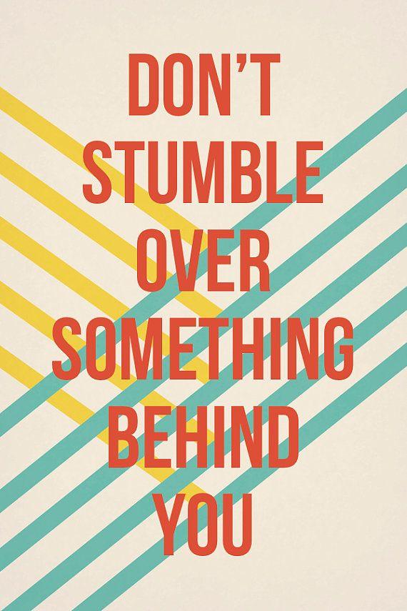 8x10 Don't Stumble Print by kensiekate on Etsy, $15.00