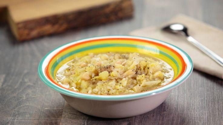 minestra di riso con cavolo verza e fagioli canellini - ottima già provata