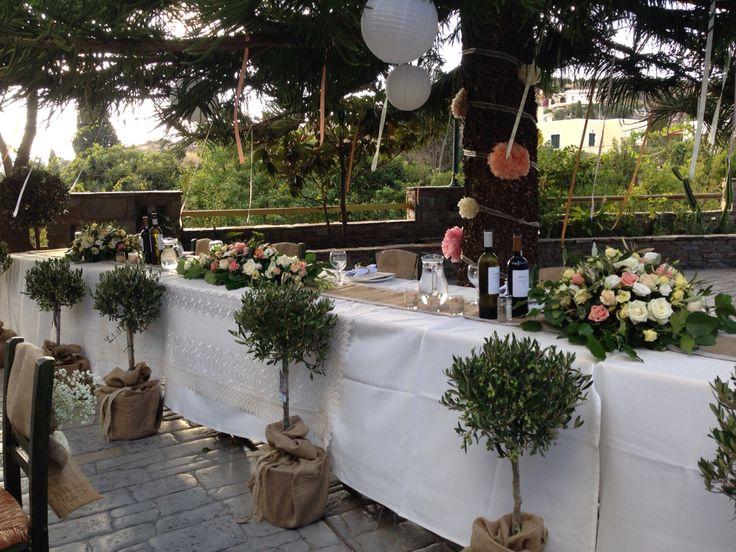 Greek Wedding table setting, styled by Islandevents.gr Naxos Cyclades