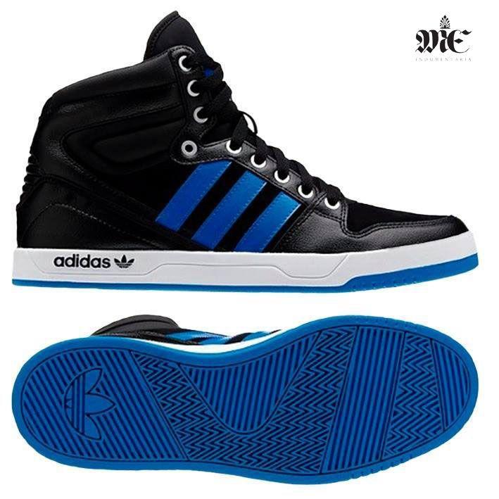 zapatillas adidas botitas azul
