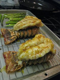 Broiled Lobster Tails. Followed recipe exactly and the tails turned out tender. The baking time is probably perfect but I had one tail a little bigger that required a couple more minutes.