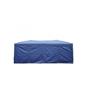 Carpa 6x3m Plegable en Acordeon 4 Paneles laterales 2 Cortinas + Bolsa Transporte