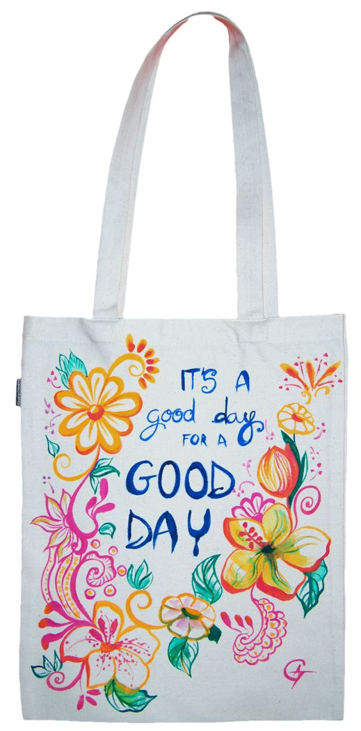 Geanta din bumbac   Good Day  Geanta din bumbac   Candy Skull Follow my work here: https://www.facebook.com/GameArtRo/ and here: https://www.instagram.com/game_art_gifts/  #handpaintedbag #Customart #watercolor #effect #blackandwhite #colors #funnytotebag #customtotebag #totebag #candy #flowers #goodday #motivationalquote