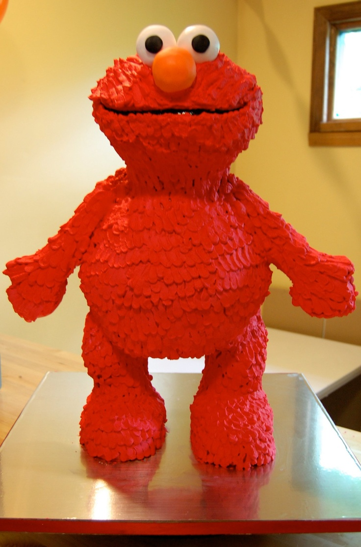 Elmo Free Standing Character Cake Crazy Cakes Elmo