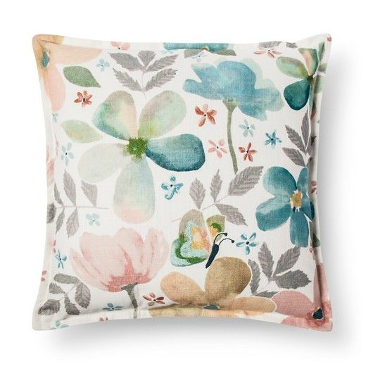 Watercolor Floral Throw Pillow - Threshold™ : Target
