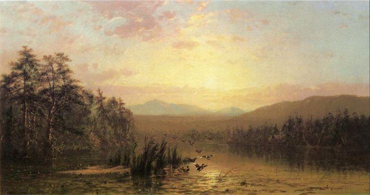 James McDougal Hart - Taking Flight,1865
