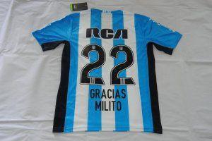 Argentina Racing Club Home 2016/17 Season #22 MILITO Soccer Shirt [F596]