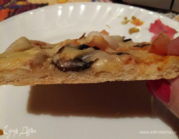 Тесто для пиццы. Ингредиенты: пшеничная мука, дрожжи сухие, соль