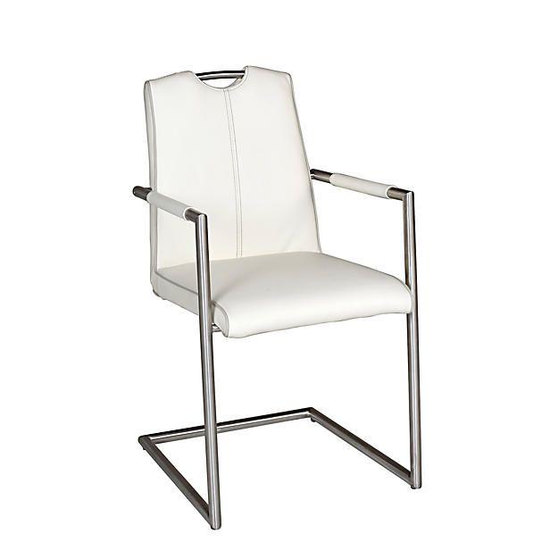 Henders hazel doutzen leren eetkamerstoel bestel nu bij for Witte leren stoelen