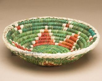 """Native American Style Saucer Basket 8.5"""""""" (a53)"""