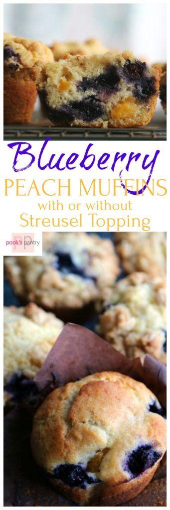 Easy Blueberry Peach Streusel Muffins | Pook's PantryFacebookGoogle+InstagramPinterestTwitter
