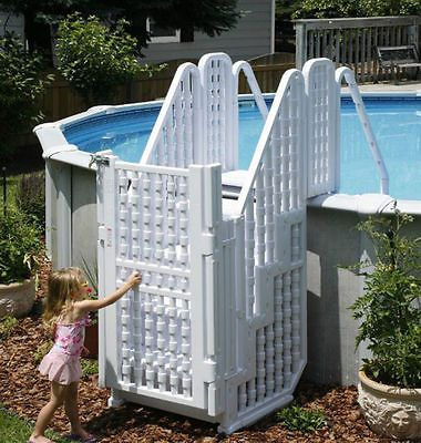17 Best Ideas About Above Ground Pool Stairs On Pinterest