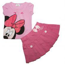 set 1 Bluza MS-fusta Minnie - roz/fuchsia