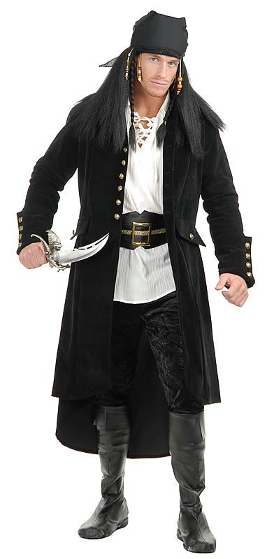 Pirate Costumes for Men - this pirate wouldn't look out of place on Treasure Island, aaarrr! me hearties!