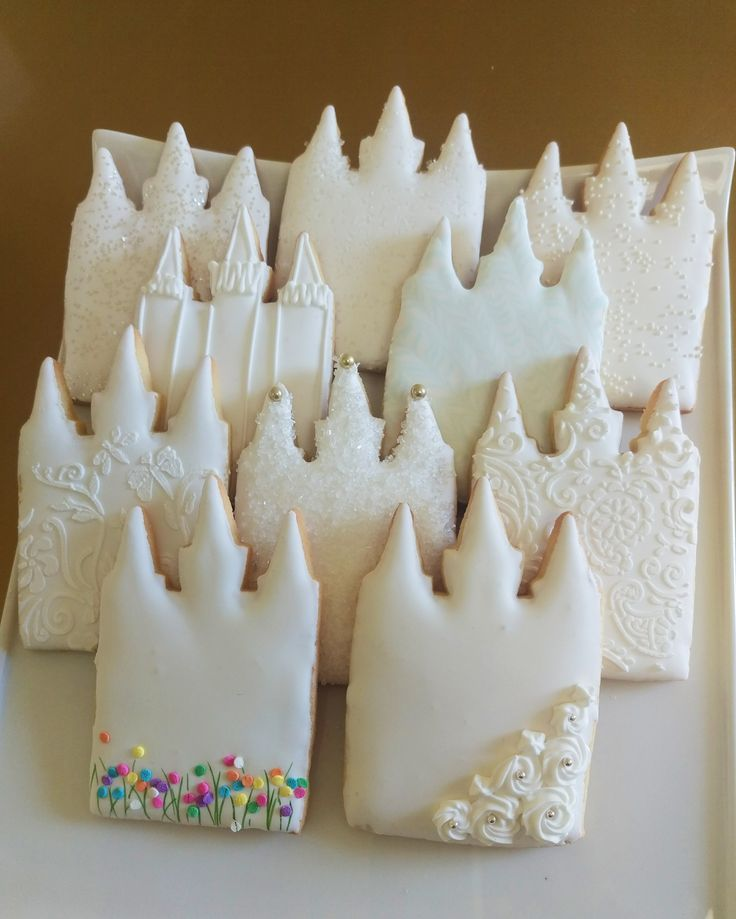 LDS temple cookie royal icing More
