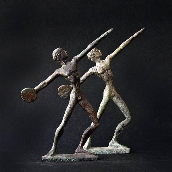 Metal Art Sculpture Discus Thrower Bronze Figurine
