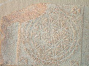 Roman tile - flower of life, Cordoba