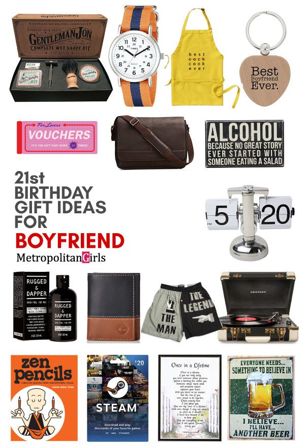 Best 21st Birthday Gift Ideas For Your Boyfriend Creative Gift