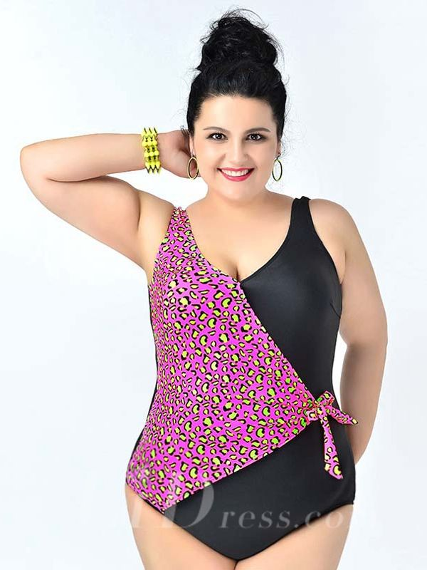 Black And Pink High Flexibility Colorful Printed Sexy Halter One Piece Plus Size Swimsuit Lidyy1605241076