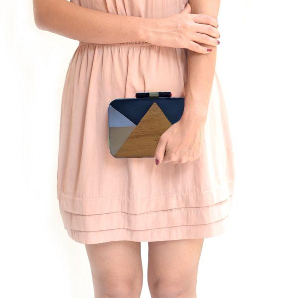 Love triangle(metallic) clutch- #rachanareddy #bags #clutch #india #wood #handcrafted #woodenclutch #metallic #fashion #elegant #nostalgic #summer #statementaccessory #ss14 #campaign #ecofashion #easybreezy  Shop here: www.rachanareddy.com