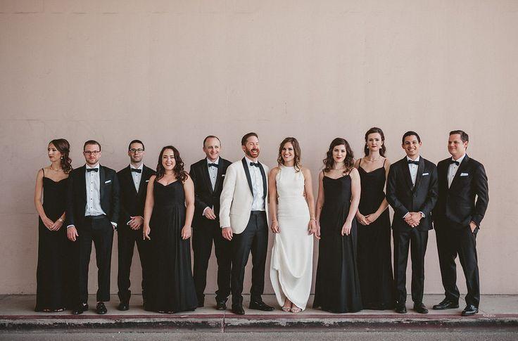 De volta ao preto: um casamento moderno e legal no Ebell Club em Long Beach, Califórnia   – Wedding Party