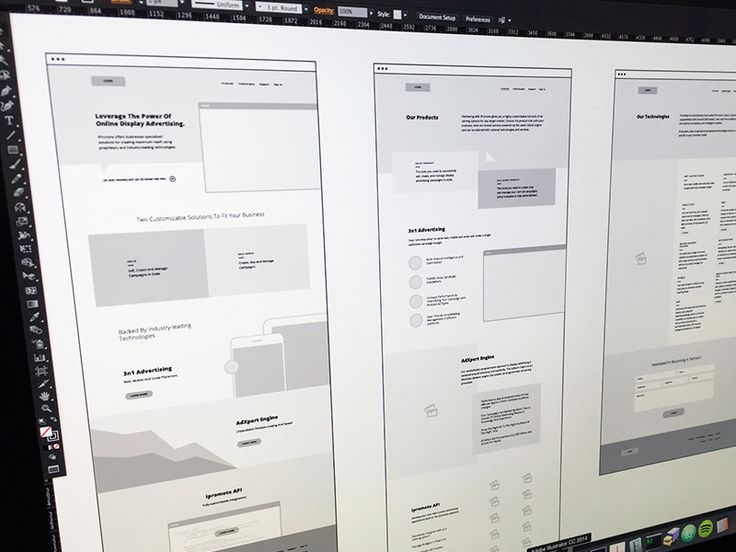 I've been working on some hi-fi wireframes for a new marketing site in the works. It's been an interesting experience trying to find the right way to do these. I'm a huge fan of wireframing in illu...