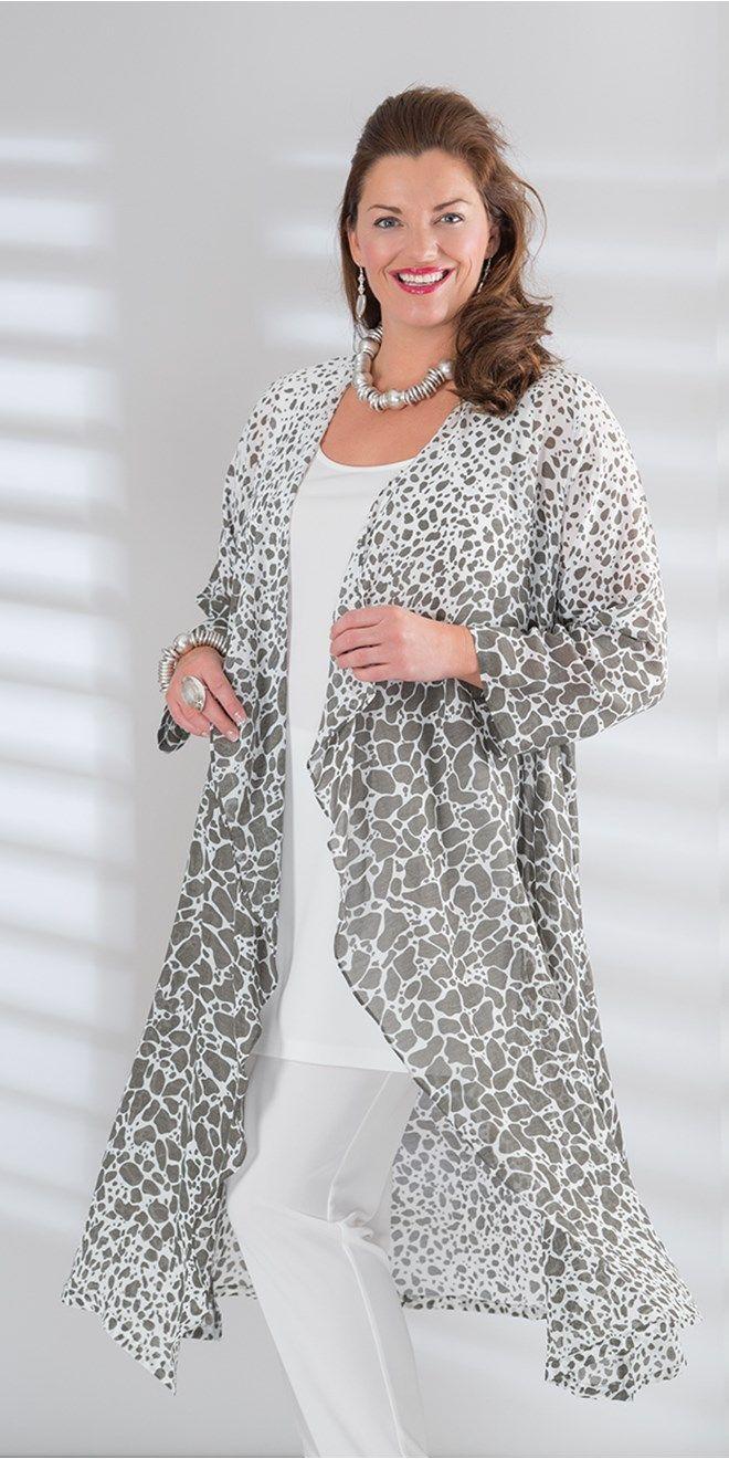 Kasbah grey/cream voile pebble waterfall coat