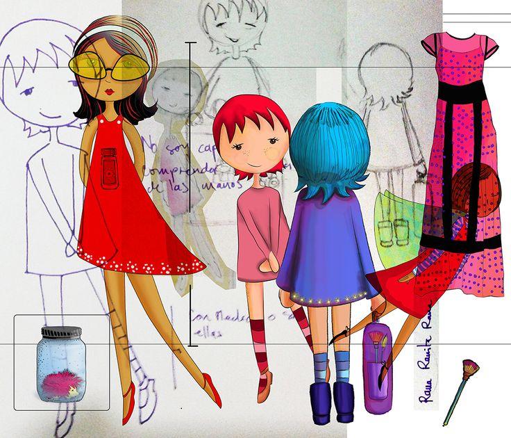 """Para mi Naná"" Dibujo + Digital Ana María Fandiño 2017. C."