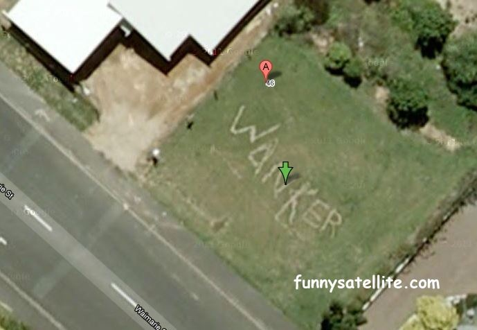 Funny satellite image from Google Maps
