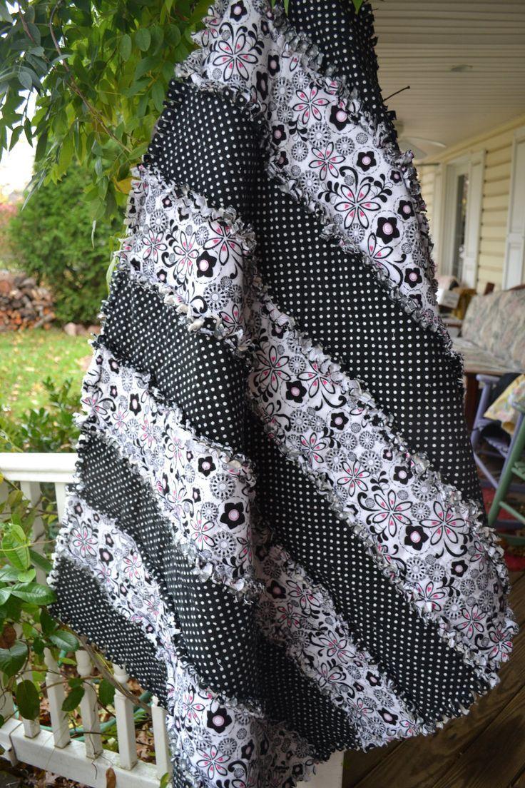 Image result for strip rag quilt