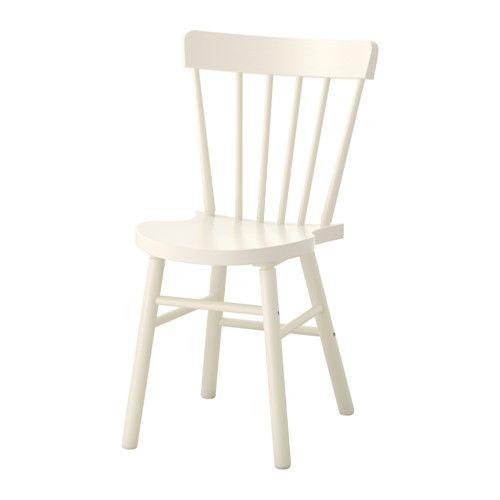 IKEA - NORRARYD, Chaise, Les formes généreuses du fauteuil vous permettront de trouver facilement une position confortable.La forme du dossier et du siège de la chaise offre un grand confort d'assise.La surface vernie est facile à nettoyer.La structure de la chaise est en bois massif, un matériau naturel et solide.