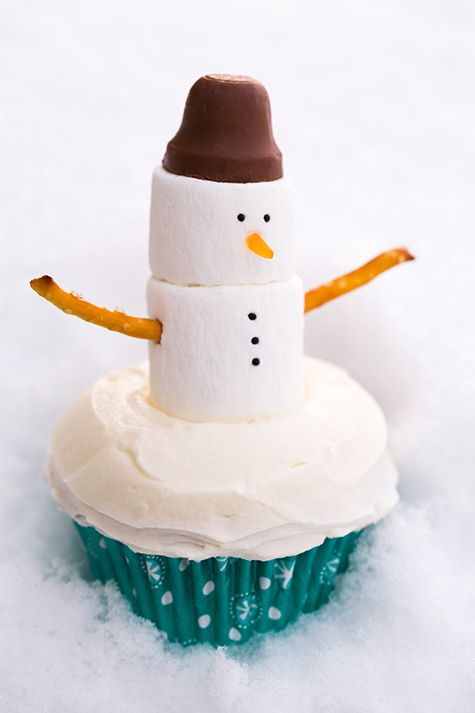Snowman Cupcakes | Cooking Classy