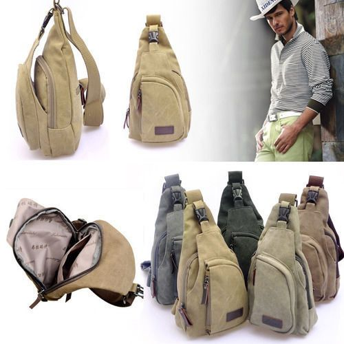 Mężczyźni-Canvas-Tornister-Casual-CROSSBODY-torebka-Messenger-ramię-Bag-stylu vintage