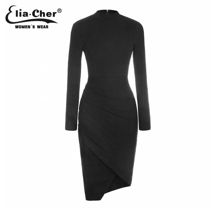 Elia-Cher Brand Knitted Warm Elegant Winter Dress //Price: $32.78 & FREE Shipping //     #hashtag3
