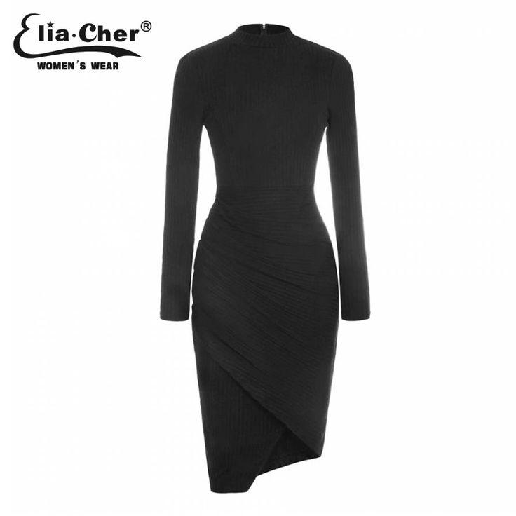 Elia-Cher Brand Knitted Warm Elegant Winter Dress //Price: $39.71 & FREE Shipping //     #hashtag2