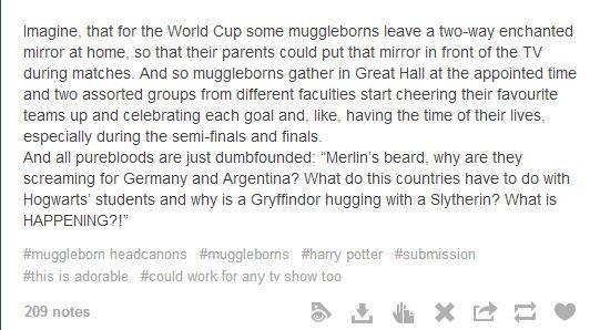 Muggleborn headcanons part 2 - Album on Imgur