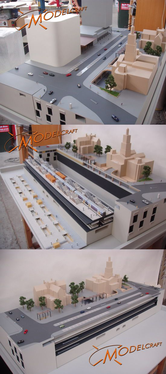 1:160 Town Hall Station. Architectural Model by Modelcraft (NSW) Pty Ltd