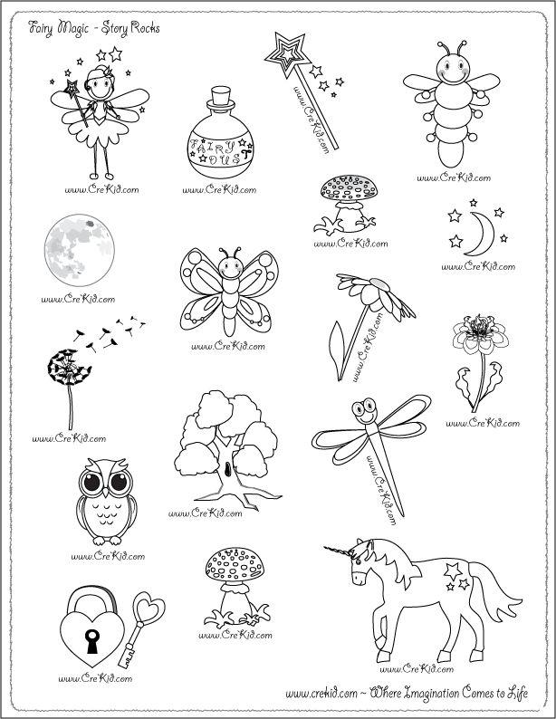Fairy- Fairies - drawing - writing - stories - story rocks - kindergarten - first grade - second grade - third grade - writing prompts - sentence starters - story prompts - story map - www.crekid.com