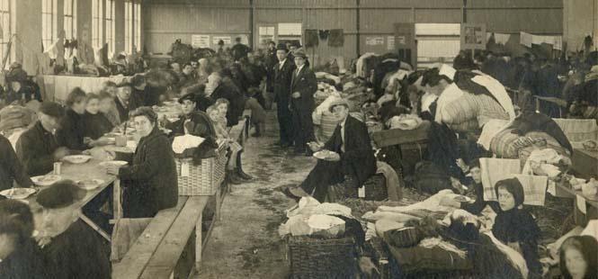 Belgische vluchtelingen in Rotterdam in 1914.