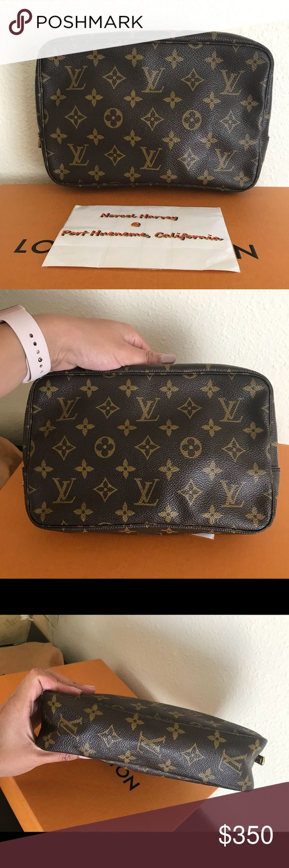 Authentic louis vuitton trousse 23 For Sale! Authentic preloved Louis vuitton Trousse 23 in Monogram in excellent used condition. Pls kindly check all the photos in the comment section.  👉🏻Normal signs of usage 👉🏻inside has some minimal wear 👉🏻No peeling inside 👉🏻No rip or tears or peeling outside 💕Datecode: 873 TH Louis Vuitton Bags Clutches & Wristlets