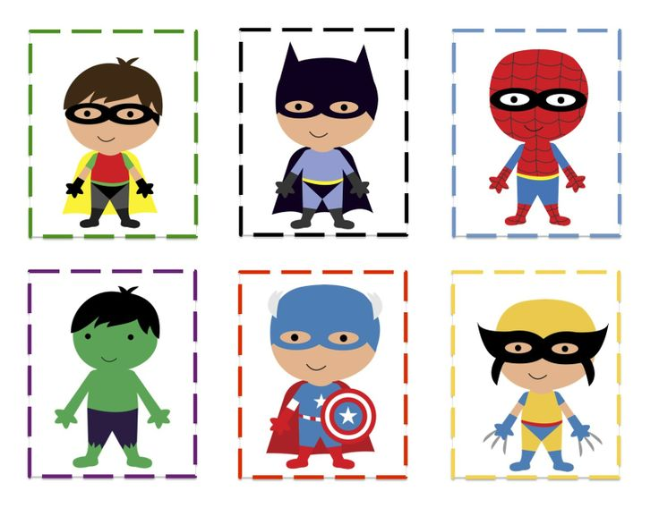 free superhero printables | Super Hero's Pattern Cards