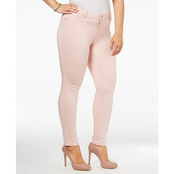 Celebrity Pink Trendy Plus Size Colored Wash Skinny Jeans ($30 ...
