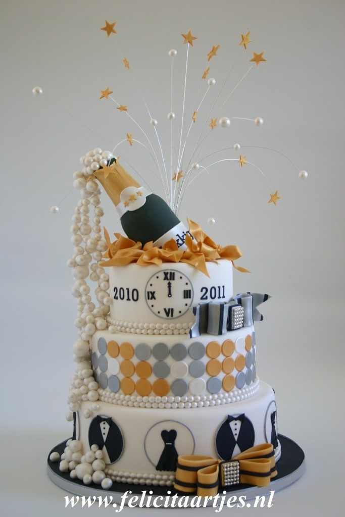Cake Decoration New : Happy New Year ! by Felicitaartjes New Years Pinterest ...
