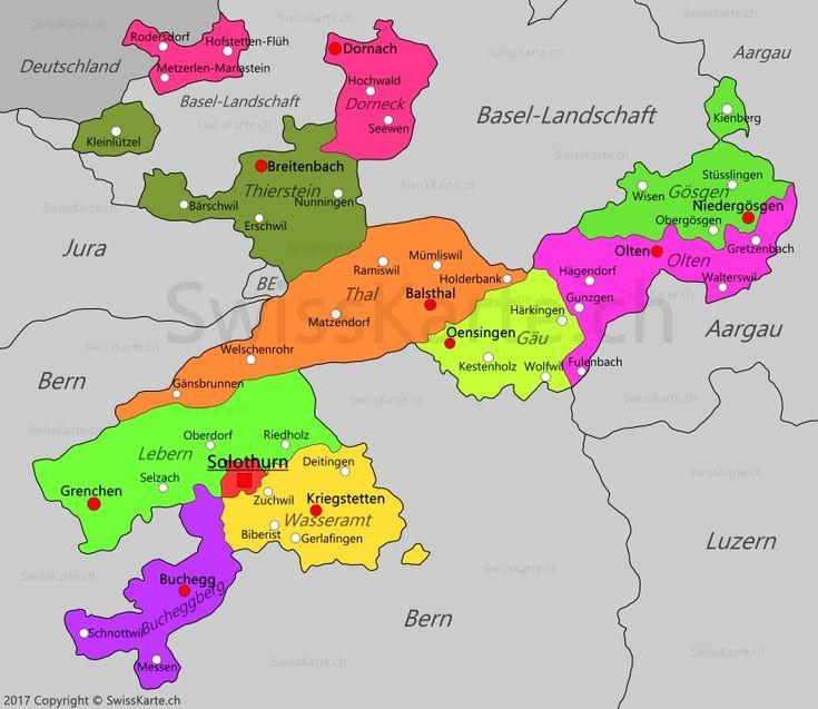 Karte Kanton Solothurn