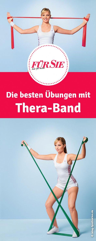 Übungen mit dem Thera-Band – Fitnessband LOVE