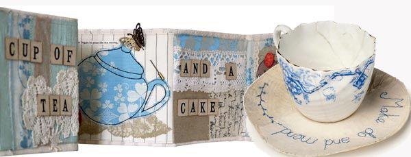 Time fo tea fabric book, Fabric teacup and saucer