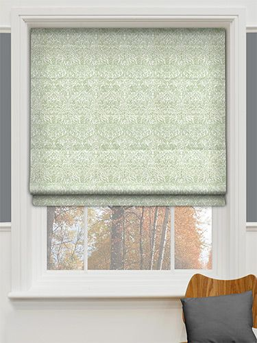 Chatsworth Heritage Green Roman Blind from Blinds 2go