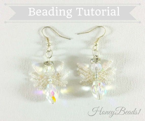 PDF-file Beading Pattern Angels with Wings Earrings PDF-file
